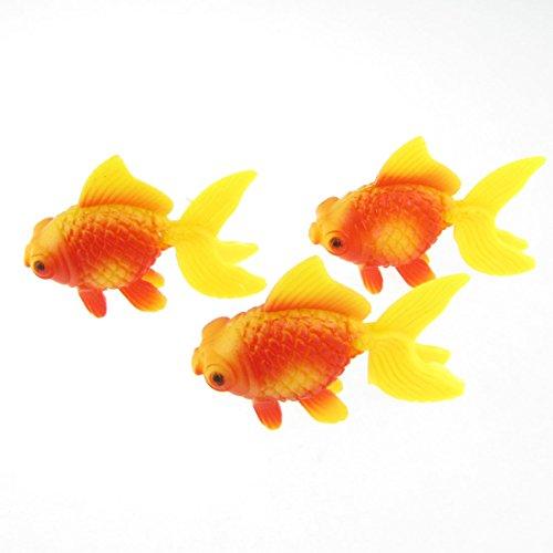 3 Stücke Aquarium Fish Tank Kunststoff Schwimmen Goldfisch Deko gelb Rot de (Kunststoff Aquarium)
