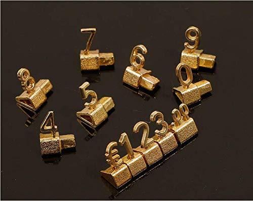 Do4U Preis Cube Kit Für Preis Cube Kit Schmuck Uhr Shop Office Display Pricemarker Etiketten (Gold)
