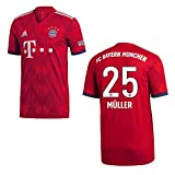 adidas FC Bayern MÜNCHEN Trikot Home Kinder 2019 - MÜLLER 25, Größe:164