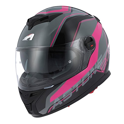 Astone Helmets gt800-wire-bpm casco Moto Integral GT 800, Negro/Rosa