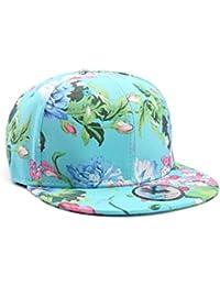 Underground Kulture Blue Flowers/Floral Snapback Baseball Cap by Snapbacks