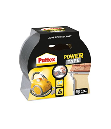 Pattex Gewebeband Power Tape, (B)50 mm x (L)10 m, grau