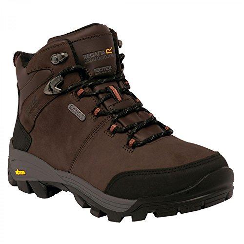 Regatta Mens Asheland Waterproof Full Grain Leather Walking Boots Peat