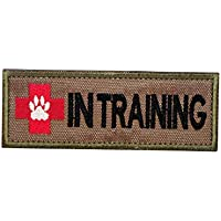 Cobra Tactical Solutions K9 Dog In Training Embroidery Patch with Hook & Loop for Airsoft/Paintball
