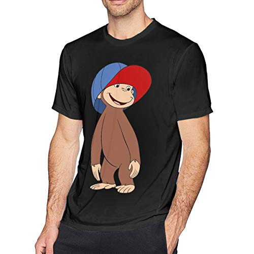 Livetees Curious George Herren Weich T-Shirt Black 3XL