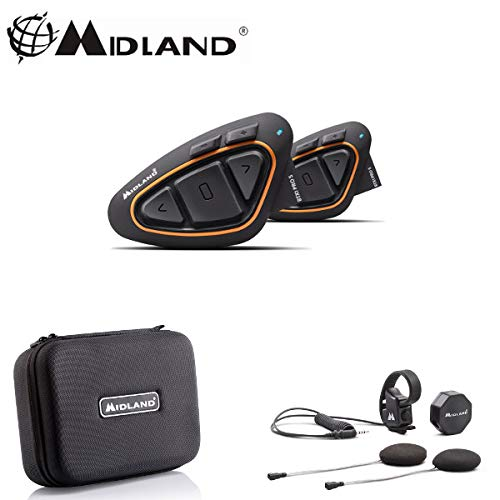 C1230 Interphone BT X1 Pro Midland Double Casque Crossover Moto Bluetooth