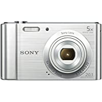 Sony DSC-W800 Digital Compact Camera Bundle (20.1 MP, 5x Zoom, 2.7 LCD, 720p HD, 23 mm Sony G Lens) - Silver