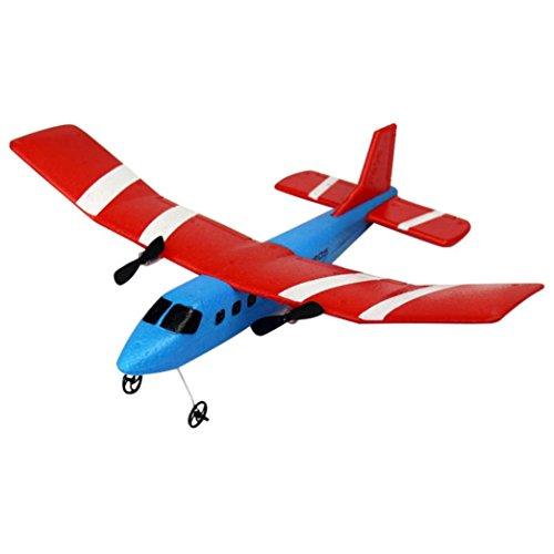 Bescita RC Segelflugzeug Ferngesteuertes 2.4G 2CH RC Flugzeug Fixed Wing Plane Outdoor EPP (C)