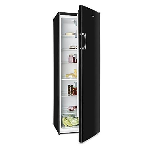 Klarstein Bigboy • Kühlschrank • Standkühlschrank • 335 Liter Fassungsvermögen • 175 cm hoch • 60 cm breit • 6 Etagen • Gemüsefach • 11 Einhängungen • wechselbarer Türanschlag • elegante Optik • freistehend • schwarz