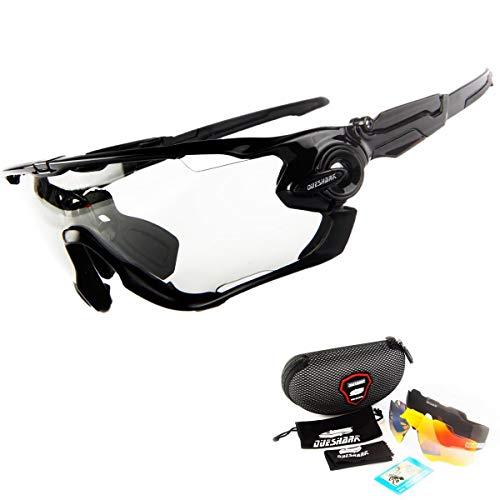 FidgetGear Fahrrad-Sonnenbrille, Photochromische Brille, Fahrrad-Brillen, MTB Road Linse, Color 04