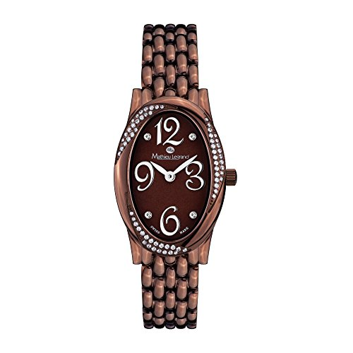 Mathieu Legrand Montre Femme Reflet du Temps marron IP MLG-2103B