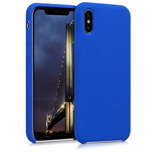 kwmobile Apple iPhone X Hülle - Handyhülle für Apple iPhone X - Handy Case in Königsblau
