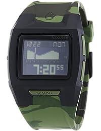 Nixon Lodown II Black Green Camo - Reloj de cuarzo para hombre, correa de plástico multicolor
