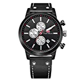 Montres de Quartz de Sports des Hommes, Montre-Bracelet imperméable de Chronographe d'hommes de mini focus avec l'affichage de Date