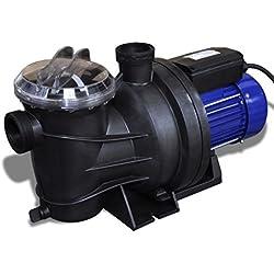 vidaXL Pompe Electrique de Piscine 1200 W Bleu Pompe de Filtration Bassin