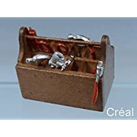 Creal 72530 Toolbox with Tool Tool Box 1:12 for dollhouse