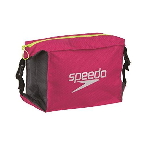 Pool Tasche (Speedo Erwachsene Tasche Pool Side Bag, Magenta/Oxid Grey/Fluo Yellow, One size, 8-09191A677)