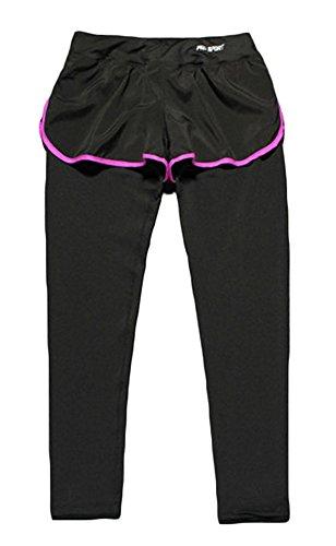 GoodNight Pantaloncini sportivi femminili di Yoga con le calzamaglia Leggings Viola