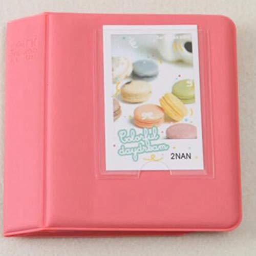 DACCU Fotoalbum, 64 Taschen, 7,6 cm, Candy Color für Mini 70 7s 8 25 50s 90 Film rosa - deep pink (Candy Traktor)