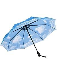 SY paraguas resistente al viento autom¨¢tico de viaje compacto ligero irrompible umbrellas-factory directa alta rentable paraguas