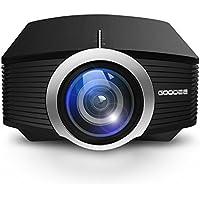 Beamer, GooDee 1800 Lumen LCD Mini Beamer Tragbare Projektor Heimkino Theater Film Video Projektor Unterstützung Multimedia HDMI USB für Heimkino Unterhaltung Spiele