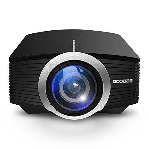 GooDee LCD Minibeamer Tragbare Beamer 1800 Lumen Heimkino Theater Film Video Projektor Unterstützung Multimedia HDMI USB für Heimkino Unterhaltung Spiele Test