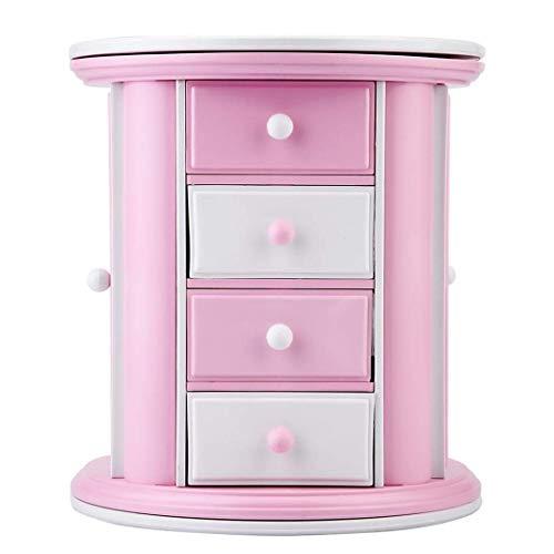 heliltd Mädchen musikalische Schmuck Aufbewahrungsbox, Mehrfachspeicher, Pink Design Jewelry Box - Schmuck-box Musikalische