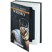 """HMF 80701 Caja de libro, caja de caudales con camuflaje de libro con paginas de papel,""""Whisky"""", 18,7 x 13 x 4,2 cm"""