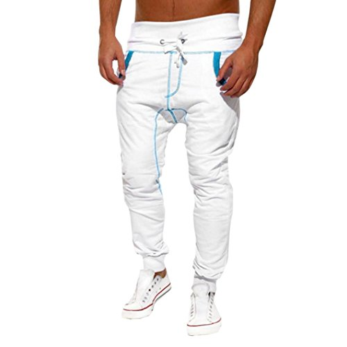 Cargo Baumwoll-mantel (Malloom® Mens Casual Jogger Tanz Sportwear Baggy Harem Hosen Slacks Hosen Jogginghose (weiß, XL))