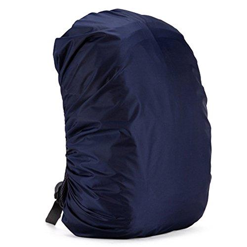 zantec Rucksack Regen Abdeckung verstellbar wasserdicht staubdicht tragbar Ultralight Schulter Tasche Schutzhülle Regenschutz Schutz für Outdoor Camping Wandern 35 Liter Old blue (Stiefel Regen Tragetaschen)