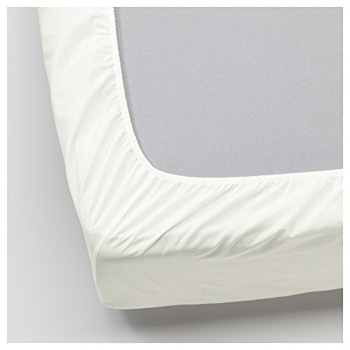IKEA ullvide–Sábana bajera ajustable, color blanco