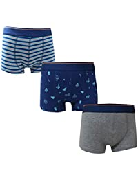 ARIEL Boy's Cotton Trunks (Pack of 3)