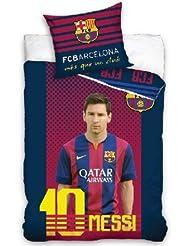 Oeko-Tex 100% Coton FC BARCELONE Linge de lit housse de couette Messi FC BARCELONE 135x200 cm Neuf