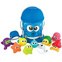 Winfun Splash N Squirt Bath Time Pals, Multi Color (10 Pieces)