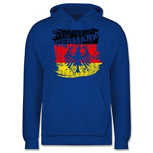 EM 2016 - Frankreich - Germany mit Adler Vintage - Männer Premium Kapuzenpullover / Hoodie Royalblau