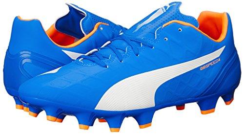 Puma Evospeed de Chaussures de soccer Electric Blue Lemonade/White/Orange Clownfish
