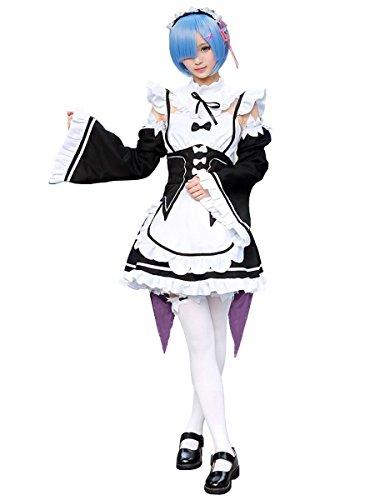 CoolChange Re:Zero kara Hajimeru Isekai Seikatsu Maid Kostüm von Ram & Rem, Größe: (Japanische Für Kostüme Mädchen Anime)