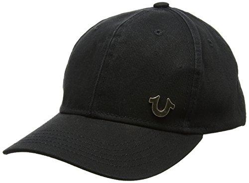 True Religion Herren Baseball Cap UK Core Logo, Mehrfarbig (Schwarz/Gold), One size