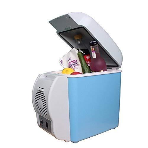 YEXIN Kühlbox Auto Kühlschrank, Wärmer & Kühler 2 Modi, Dual Voltage Auto Kühler Wärmer AC - DC, tragbare Gefriertruhe mit automatischem Verriegelungsgriff für unterwegs, Camping-7.5L