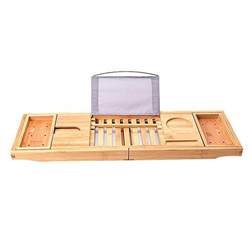 WENYAO Bandeja para bañera Bandeja de Bambú para Bañera Extensible  Ajustables Bandeja de baño Estantes para eb8cd504fadc