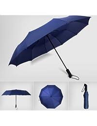 Nikgic paraguas plegable anti-UV cortavientos paraguas de viaje y salidas en plein air para