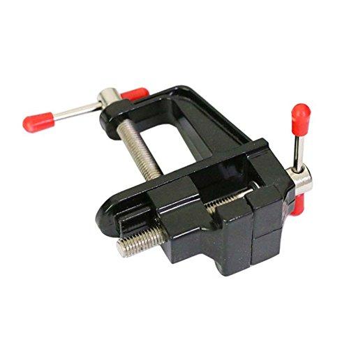 Rokoo: Mini-Schraubstock für Tische oder Bänke, aus Aluminiumlegierung, mit Lenkstopp -