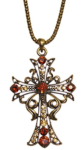 Halskette mit Kreuz und Steinen Keltisch