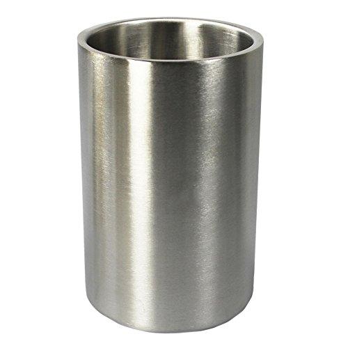 COM-FOUR® Wein- und Sektkühler aus Edelstahl doppelwandig 12cm Durchmesser