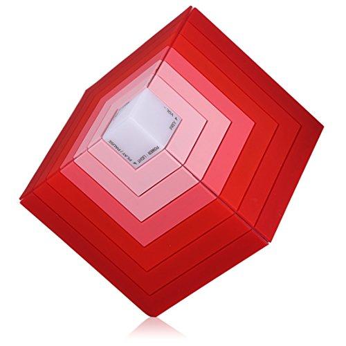 Bluetooth-Lautsprecher–Cube Rainbow 5W High Bass, 600mAh Akku, TF, AUX–Licht bis Lautsprecher