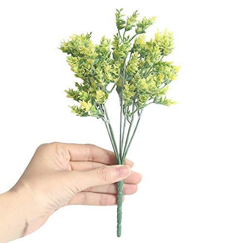 TianWlio Künstliche Gefälschte Blumen Kleine Frische Blätter Gras Betriebs Blumenstrauß Ausgangs Hochzeits Dekor