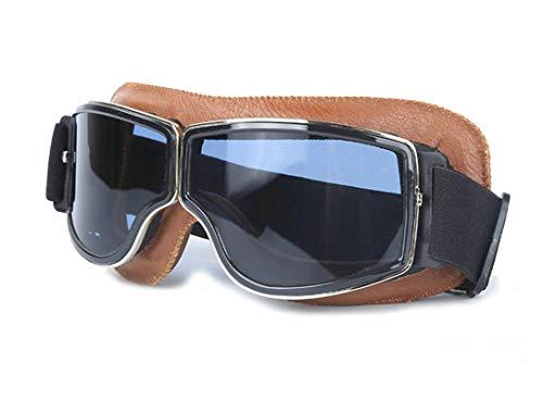 Aeici Sportbrille TPU Sportbrille Herren Fahrrad Brillenträger Softairbrille Braun Schwarz