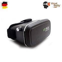 VR Brille, Pasonomi Virtual Reality Brille VR Headset für 3D Filme und Spiele, Kompatibel mit Samsung Galaxy S7 S7 Edge S6 S6 Edge Note 5, iPhone 5 6 6s Plus 7, 4.0-6.0 Zoll ios und Android Handy