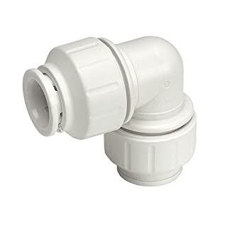 John Guest Speedfit PEM0315W 15 mm Equal Elbow - White (Pack of 10)