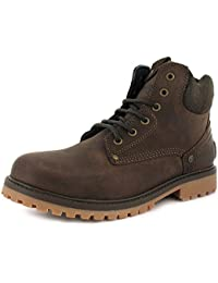 c84bb90f164 Wrangler New Mens/Gents Brown Fashion Work Boots With Padded Collar. - Dark  Brown